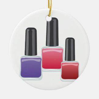 Esmalte de uñas adorno navideño redondo de cerámica