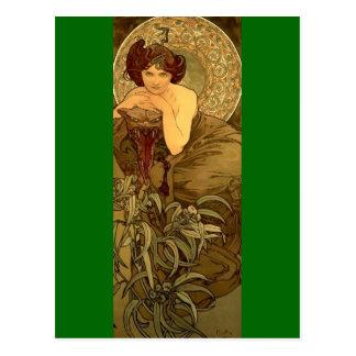 Esmeralda - arte Nouveau Postal