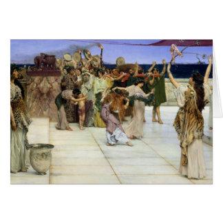 Esmero de Alma-Tadema |A al Bacchus Tarjeta De Felicitación