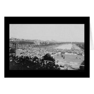 Esmero del Lincoln memorial 1922 Tarjeta