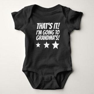 Eso es él que voy a la abuela body para bebé