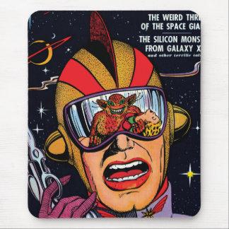 Espacie la cubierta de cómic de Sci Fi del vintage Alfombrilla De Ratón