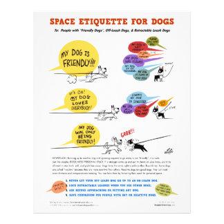 """Espacie la etiqueta para los perros - 8,5"""" x 11"""" l folleto 21,6 x 28 cm"""