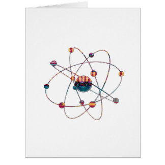 Espacio artístico del laboratorio de ciencia del tarjeta de felicitación grande