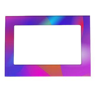 Espacio colorido marcos magneticos para fotos