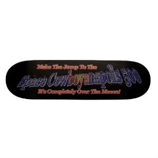 ¡Espacio Cowboyanapolis 5oo-Completely sobre la lu Monopatín 21,1 Cm
