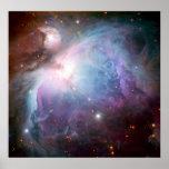 Espacio de la púrpura de la nebulosa de Orión Poster