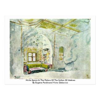 Espacio del lugar en el palacio del sultán de postal