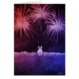 Espacio en blanco - bollo el 4 de julio tarjeta de felicitación