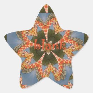 Espacio en blanco colorido africano asombroso pegatina en forma de estrella