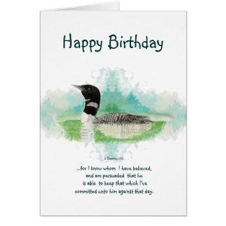 Espacio en blanco cristiano del cumpleaños de la tarjeta de felicitación