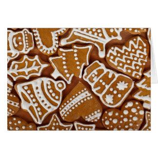 Espacio en blanco de la tarjeta de Navidad del pan