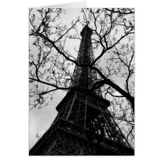 Espacio en blanco de París de la torre Eiffel Tarjeta De Felicitación