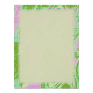 Espacio en blanco del rosa y del verde tarjetas publicitarias