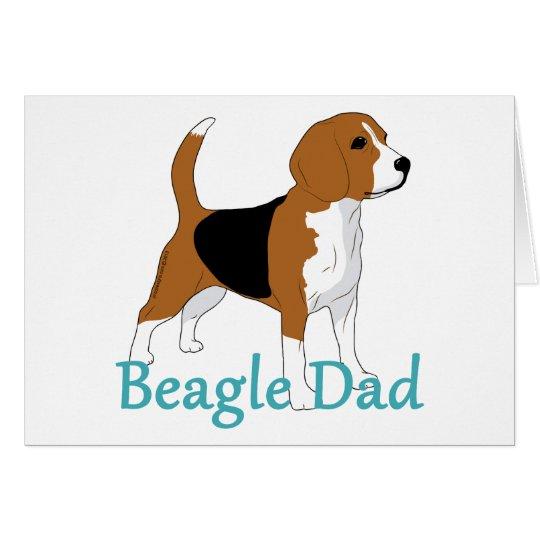 Espacio en blanco especial del papá del beagle tarjeta pequeña