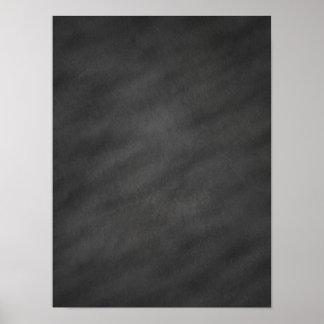 Espacio en blanco negro gris del tablero de tiza póster