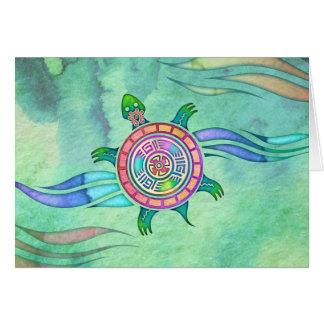 Espacio en blanco Notecard de la tortuga del Tarjeta Pequeña