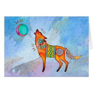 Espacio en blanco Notecard del lobo del alcohol Tarjeta Pequeña