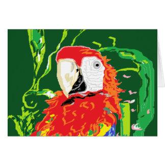 Espacio en blanco /Parrot interior de la tarjeta
