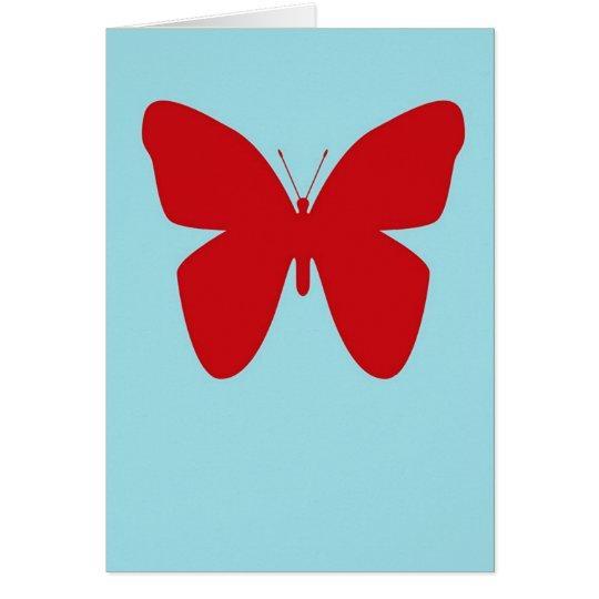 Espacio en blanco retro de la mariposa tarjeta de felicitación