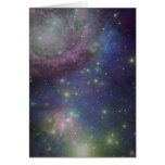 Espacio, estrellas, galaxias y nebulosas felicitaciones