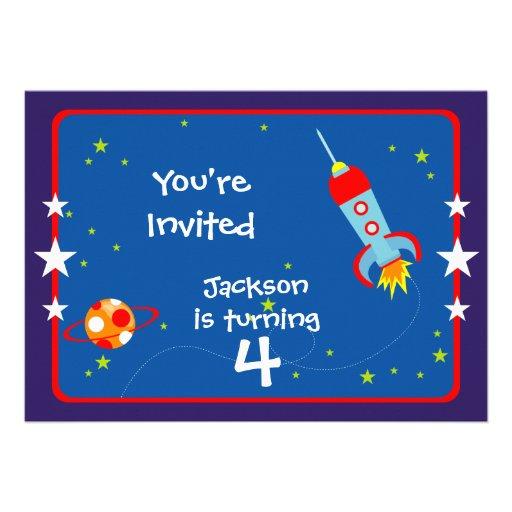 Espacio exterior 1 invitación de la fiesta de cump