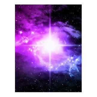 Espacio exterior púrpura postal