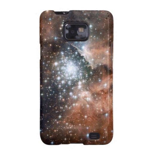 Espacio fresco de las estrellas de la nebulosa de  galaxy s2 fundas