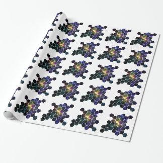 espacio geométrico papel de regalo