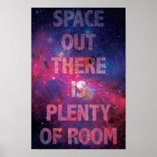 Espacio hacia fuera poster
