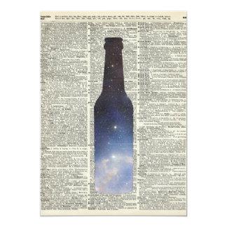 Espacio mágico de la cerveza sobre la página del invitación 12,7 x 17,8 cm