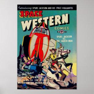Espacio occidental de arte cómico de la época do posters