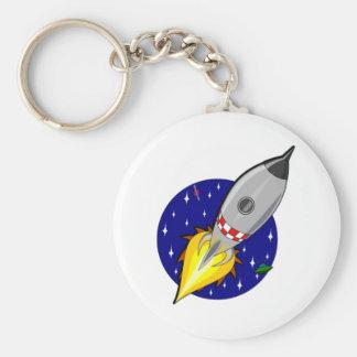 Espacio Rocket del dibujo animado Llaveros Personalizados