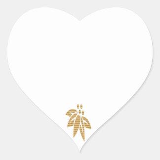 Espacios en blanco del CORAZÓN con el ornamento Pegatina En Forma De Corazón