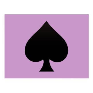 Espada - juego del icono de las tarjetas tarjeta postal