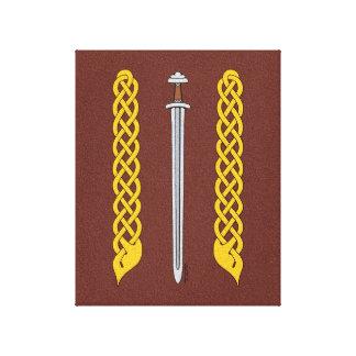 Espada y Plaitwork de Viking Lienzo