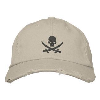 Espadas del cráneo del pirata gorros bordados