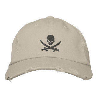 Espadas del cráneo del pirata gorra bordada