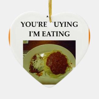espaguetis adorno de cerámica