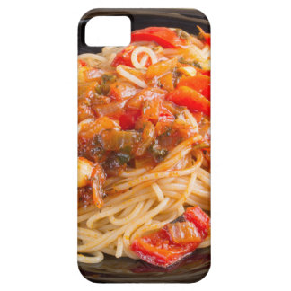 Espaguetis de las pastas con la salsa vegetal funda para iPhone SE/5/5s