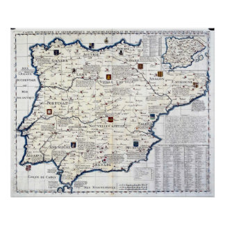 España 1705-1739 y Portugal Póster