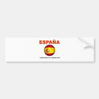 España Campeón del Mundo 2010 Pegatina Para Coche