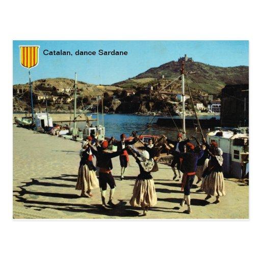 España, catalán, danza Sardane Postales