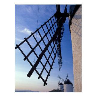 España, Consuegra, molinoes de viento de Mancha de Tarjetas Postales