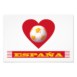 ESPAÑA Fútbol Corazón y Bufanda Brasil 2014 Fotografía