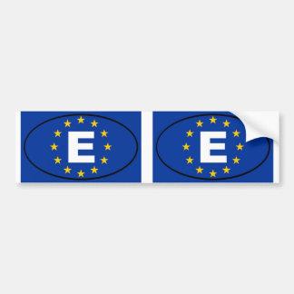 España - óvalo de la unión europea pegatina para coche