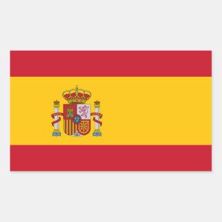 España Pegatina Rectangular