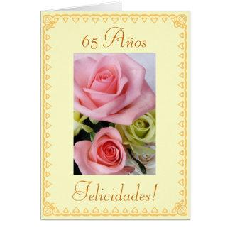 Español 65 o Cumpleaños Cumpleanos 65 anos Felicitaciones