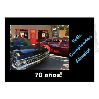 Español: 70.o cumpleaños del abuelo tarjeta de felicitación