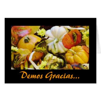 Español: Acción de gracias/Dar Gracias Tarjeta De Felicitación